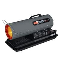 Dyna-Glo Delux KFA50DGD Delux Portable 50,000-BTU Multi-Fuel Forced Air Heater w - grey - N/A