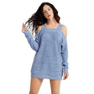 NE PEOPLE Women's Open Shoulder Long Sleeve Sweater Top [NEWT159]
