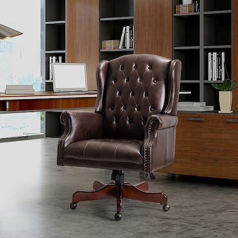 Maximiliano Swivel Executive Chair with Tufted Back
