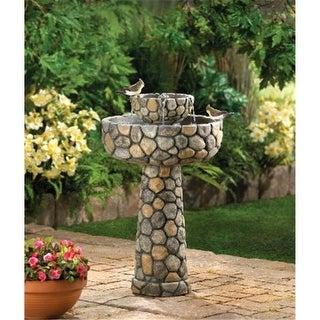 Zingz & Thingz Wishing Well Rustic Solar Garden Water Fountain
