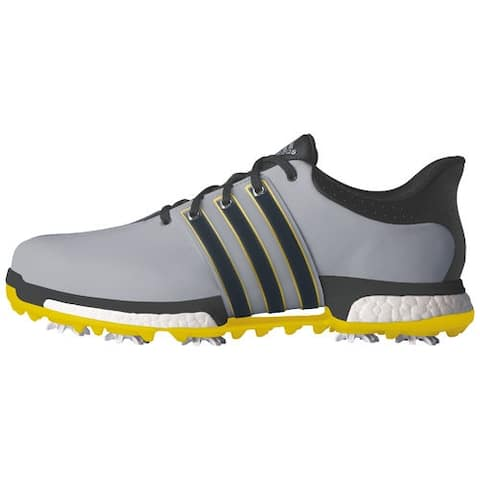 Adidas Men's Tour 360 Boost Light Onix/Bold Onix/Vivid Yellow Golf Shoes Q44845 / Q44827