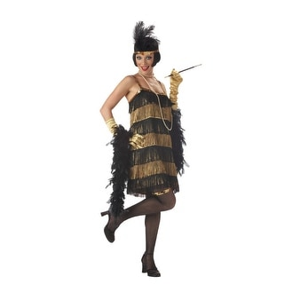 California Costumes Jazz Time Flapper Adult Costume (Gold) - Gold/Black - Small