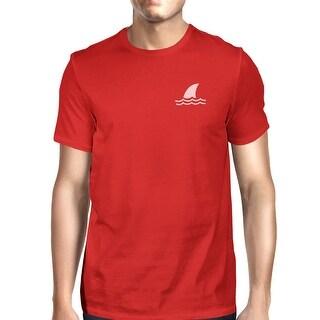 Mini Shark Red Mens Short Sleeve T-Shirt Gifts For Shark Lovers