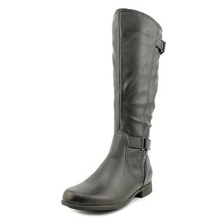 Hush Puppies Motive_16Bt Women Round Toe Synthetic Black Knee High Boot