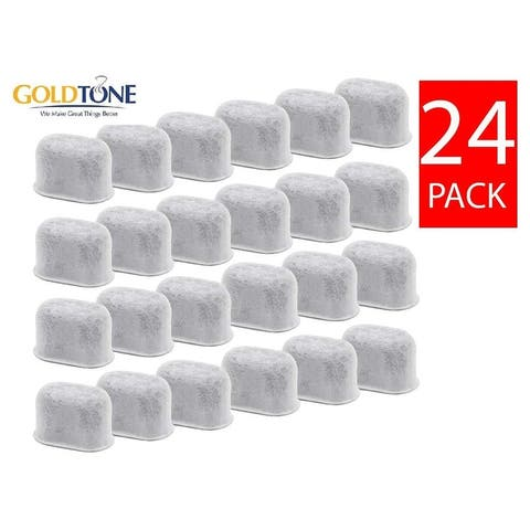 GoldTone Activated Charcoal Water Filters Replaces All KEURIG & BREVILLE Coffee Machines, Replacement 1.0 2.0 BWF100 - (24 Pack)