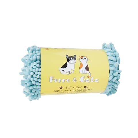 Perro and Gata Microfiber Chenille Pet Towels for Dogs and Cats