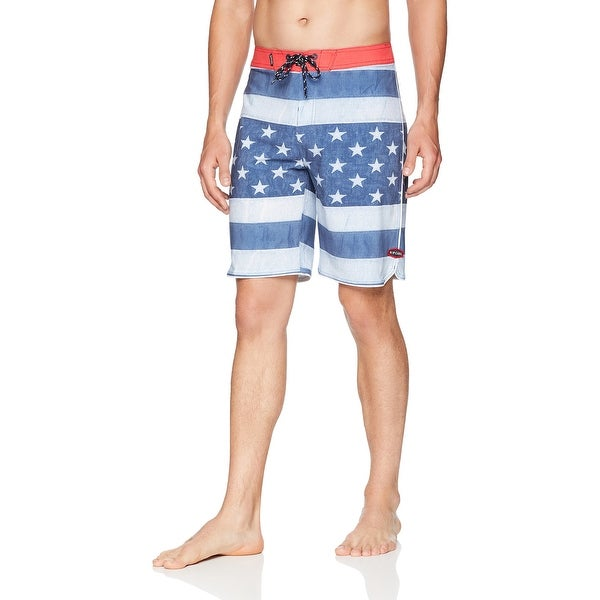 d9740856f1 Shop Rip Curl Blue Mens Size 31 American Print Board Surf Shorts - Free  Shipping On Orders Over $45 - Overstock - 28078282