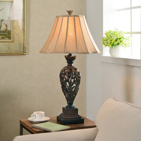Vetaio Golden Ruby 3-Way Table Lamp