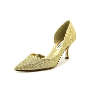 Nina Brydie Women Pointed Toe Canvas Gold Heels
