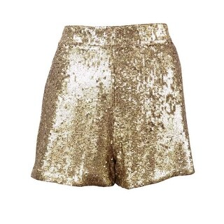 Lucky Brand Women's Pocketed Sequined Shorts - Natural Multi - 6