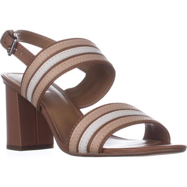 Shop COACH Princeton Slingback Sandals, Saddle/Beechwood ...