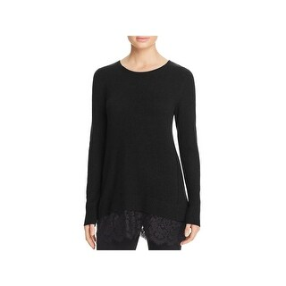 Private Label Womens Pullover Sweater Lace Trim Cashmere (2 options available)