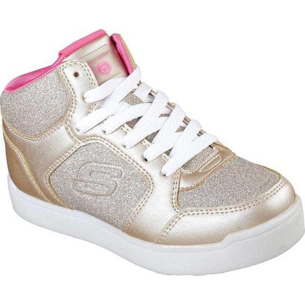 624bd1fb690c Skechers Girls  x27  Energy Lights E-Pro Glitter Glow High Top Sneaker Gold