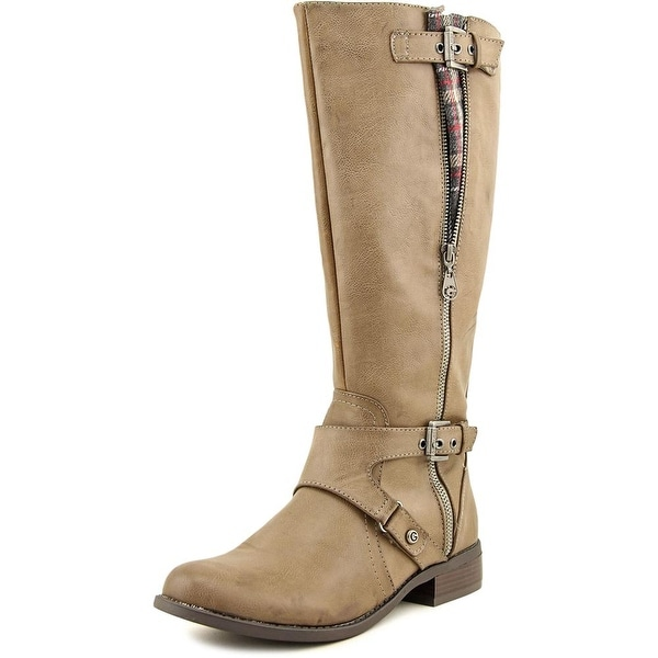 G By Guess Hertle 2 Wide Calf Round Toe Synthetic Knee High Boot