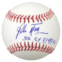 Pedro Martinez Red Sox Signed Rawlings Official MLB Baseball 3x Cy Insc BAS