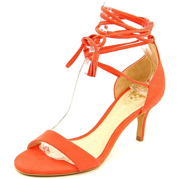 Vince Camuto Kathin Women Open Toe Leather Orange Sandals