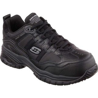 201eeadef4be Shop Skechers Men s Work Relaxed Fit Crankton Steel Toe Shoe Black ...