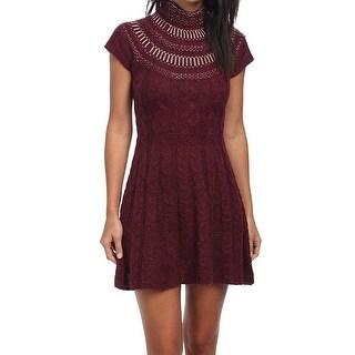 Free People NEW Purple Women's Size Medium M Sweater Dress Wool