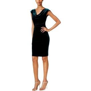 Jessica Howard Womens Party Dress Velvet Cowl Neck