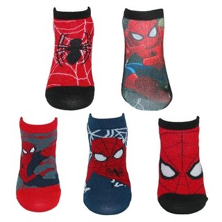 Marvel Boy's Spiderman Character Socks (5 Pair Pack) - small 4-6.5