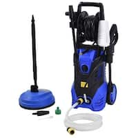 Costway 3000PSI Electric High Pressure Washer Machine 2 GPM 2000W w/ Deck Patio Cleaner