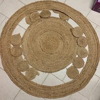 Safavieh Handmade Natural Fiber April Natural Brown Jute Rug - 3' x 3' Round