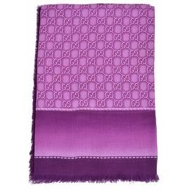 New Gucci Women's 427258 Violet Purple GG Guccissima Modal Scarf Shawl Wrap