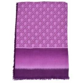 Gucci Women's 427258 Violet Purple GG Guccissima Modal Scarf Shawl Wrap
