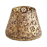 Cyan Design Small Filigree Dream Container Filigree Dream 4.25 Inch Tall Iron Container - Antique Gold - n/a