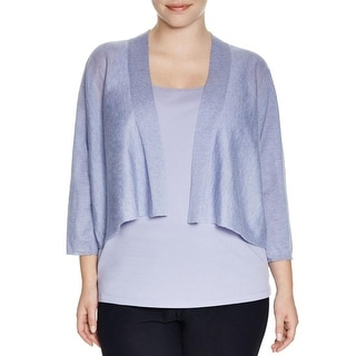 Eileen Fisher Womens Plus Cardigan Sweater Kimono Ribbed Trim