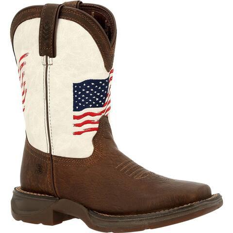 #DBT0234Y, Lil' Rebel by Durango® Big Kids Distressed Flag Western Boot