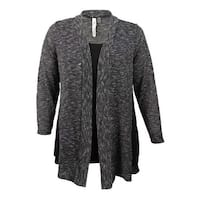 NY Collection Women's Plus Size Layered-Look Sweater (1X, Black) - Black - 1X