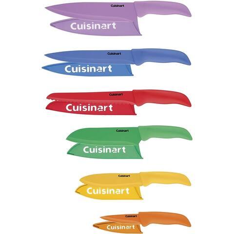Cuisinart C55-02-12PCKS Advantage 12-piece Nonstick Color Cutlery Set with Blade Guards, Multicolor
