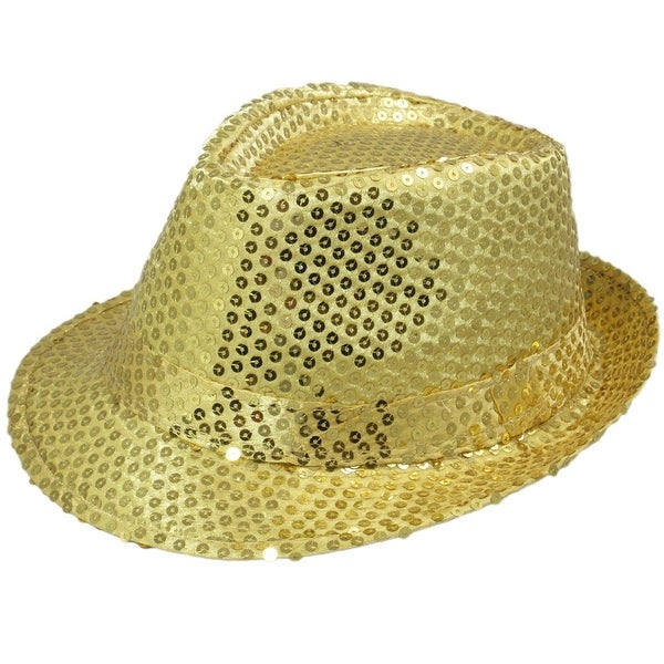 9694fd9edf722 Shop Dancer Sequin Costume Hat  Gold - Free Shipping On Orders Over  45 -  Overstock - 13670717