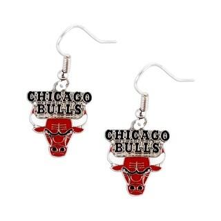 Chicago Bulls Dangle Logo Earring Set Nba Charm Gift