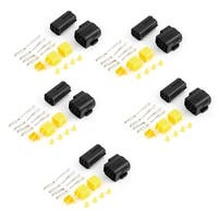 Unique Bargains Car Auto Stereo 4-Pin 4-Position Waterproof Wire Connectors Plug 5 Set