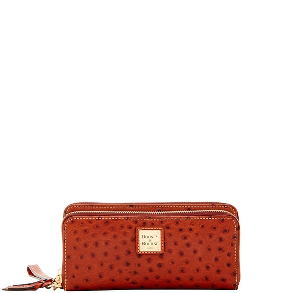 Dooney & Bourke Ostrich Double Zip Wallet (Introduced by Dooney & Bourke at $188 in Aug 2017)