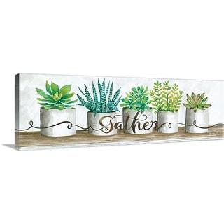 """Gather Succulent Pots"" Canvas Wall Art"