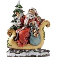 "10.5"" Joseph's Studio Santa Claus In Sleigh with Toys and Tree Christmas Figure"
