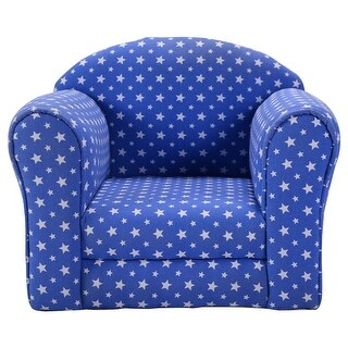 Costway Blue w/Stars Kid Sofa Armrest Chair Couch Children Living Room Toddler Furniture