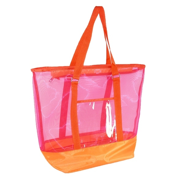 CTM® Women's Zip Top Tote Bag - One size