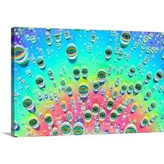 """""""Rainbow Drops III"""" Canvas Wall Art"""