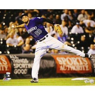 Nolan Arenado Autographed Colorado Rockies 16x20 Photo Batting FAN
