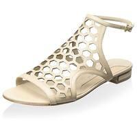 Carolinna Espinosa Womens Starks Leather Open Toe Beach Slide Sandals
