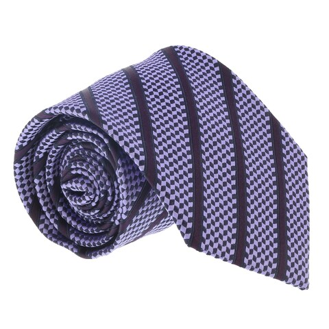 Ermenegildo Zegna Light Purple Cubic Stripe Tie - 60-3