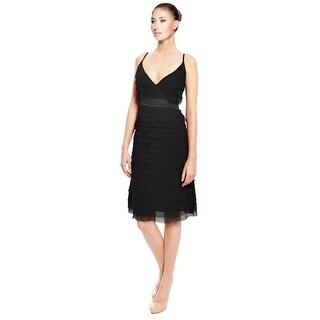Hannah Jo Tiered Silk Eve Dress - L