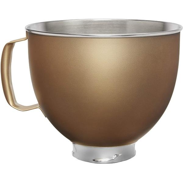 KitchenAid 5 Quart Tilt-Head Metallic Finish Stainless Steel Bowl. Opens flyout.