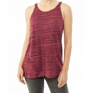 Alternative Apparel NEW Red Womens Size XS Space-Dye Layered Halter Top