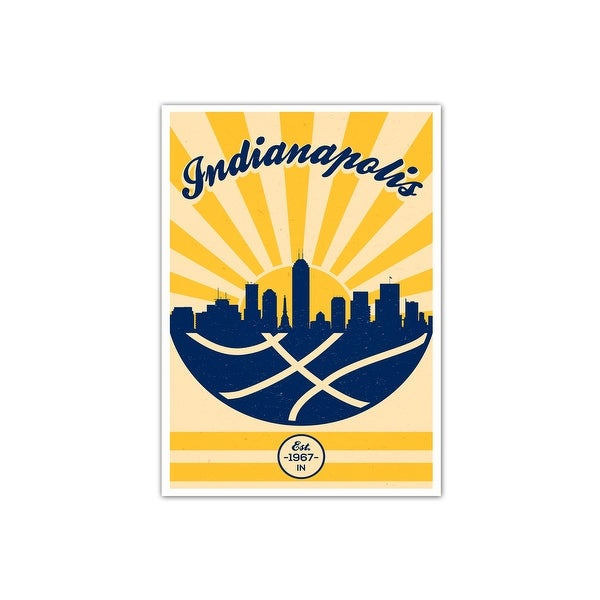 Indiana Pacers Vintage NBA Poster Matte Poster 24x36
