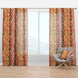 Link to Carson Carrington Tannflo 'Retro Abstract Design XIII' Curtain Panel Similar Items in Window Treatments